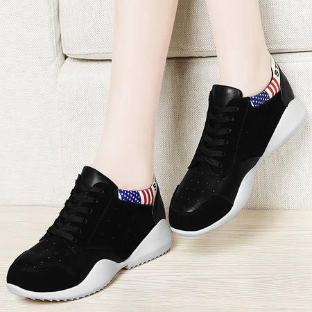 百年纪念春季新款平底鞋时尚透气运动鞋系带单鞋休闲鞋低帮鞋学生鞋女鞋子