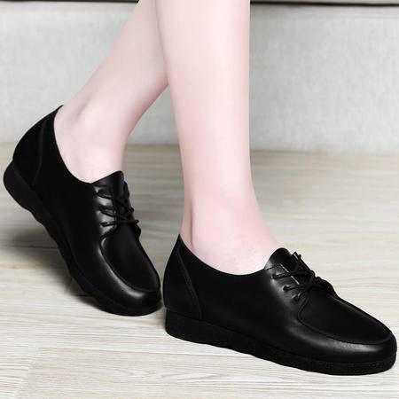 百年纪念春秋季新款鞋子韩版平跟单鞋系带平底休闲鞋时尚软底浅口女鞋