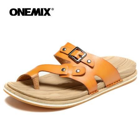 onemix玩觅夏季人字拖男拖鞋凉拖男沙滩鞋夹趾潮流凉拖鞋男鞋情侣款女鞋