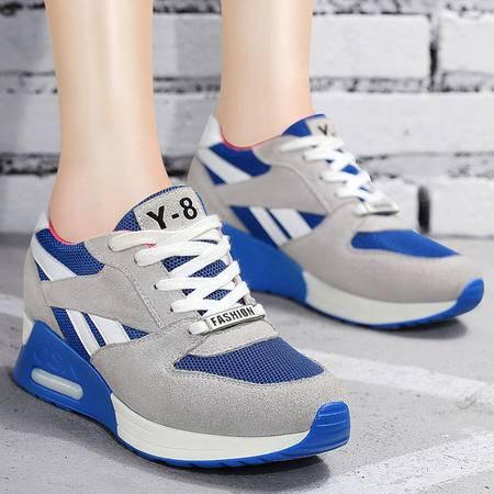 百年纪念女鞋秋季厚底旅游鞋低帮平底鞋潮流运动鞋内增高单鞋休闲鞋