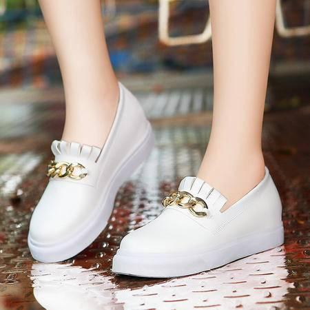 莫蕾蔻蕾秋新款乐福鞋套脚板鞋厚底平底鞋休闲鞋单鞋女鞋潮鞋子