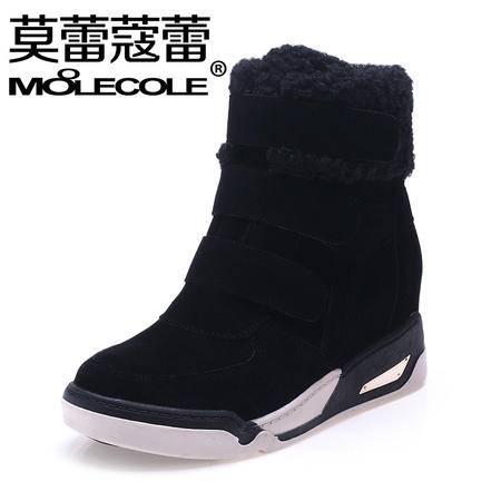 莫蕾蔻蕾冬季新款磨砂雪地靴女内增女鞋平底加绒短靴保暖棉鞋休闲鞋