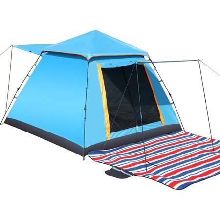 创悦 四人加大双开门自动速搭帐篷 CY-5906防蚊帐篷【帐篷】