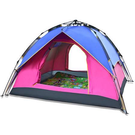 创悦 3-4人双层户外野营两用帐篷CY-5909沙滩登山公园防雨防晒帐篷【帐篷】