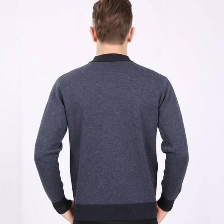 格斯帝尼2016男士羊毛衫圆领加厚保暖毛衫QY1003