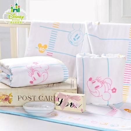 迪士尼Disney 宝宝浴巾 儿童浴巾 彩虹纱布无捻浴巾