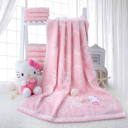 凯蒂猫/HELLOKITTY  浴巾 甜蜜花园无捻柔加大软吸水浴巾