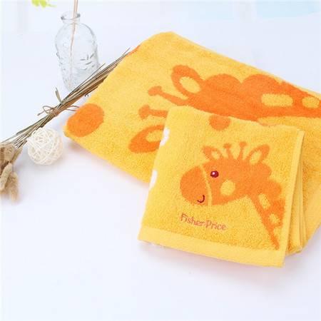 费雪 Fisher Price 毛巾 费雪竹纤维提花方巾 单条装