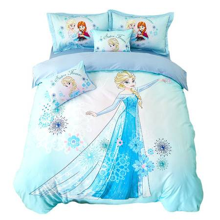 迪士尼 Disney 儿童家居家纺 卡通纯棉印花床品三件套 MU323-3