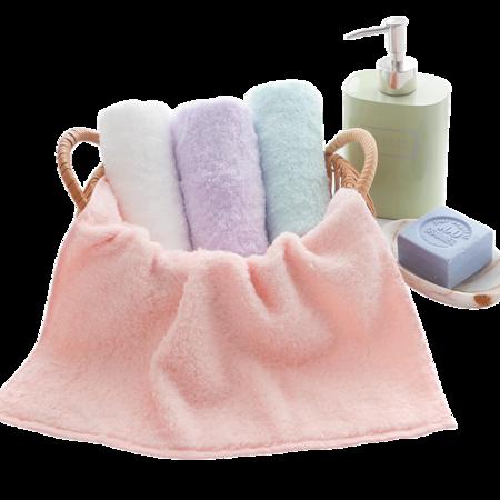 UCHINO 內野儿童小毛巾 棉花糖纯棉方巾4条装 TMA15909