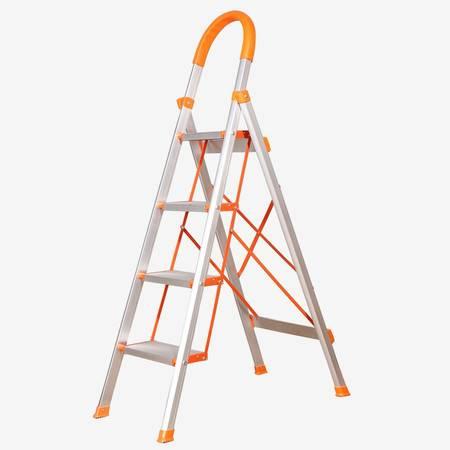 宝优妮 宝优妮 家用铝合金防滑梯子  耐用可折叠人字梯