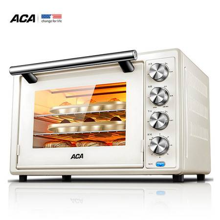 ACA 北美电器 上下货独立控温家用新手烘焙电烤箱