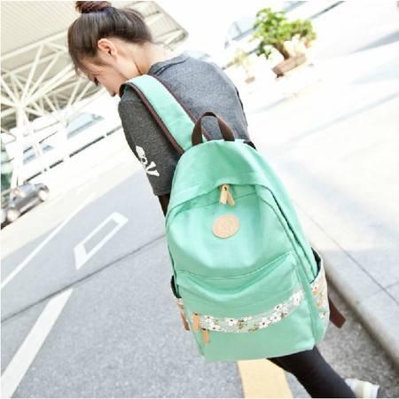 韩版双肩潮女帆布背包学院风小清新学生书包旅行包ody048