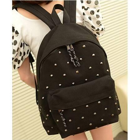 积卡逊 韩版时尚休闲帆布双肩包男女学生书包背包GC-40