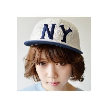 柏妃 韩国潮女嘻哈透气蕾丝平沿棒球帽子 B18