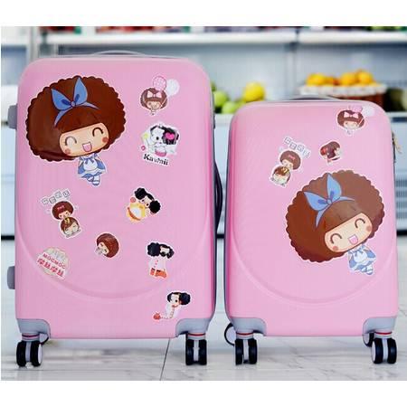 韩国行李箱拉杆箱8轮万向轮旅行箱 密码箱行李箱包男女登机箱皮箱20寸mc201
