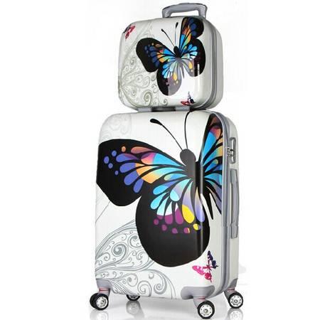 韩国子母箱包拉杆箱 万向轮男 旅行箱 行李箱子ABS 登机箱PC行李箱套装20寸mc212