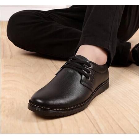2016男士真皮皮鞋秋冬季真皮男鞋休闲英伦男透气板鞋软牛皮休闲鞋单层TSH048