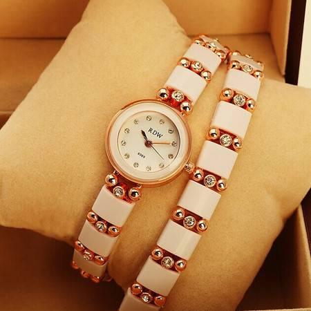包邮双层缠绕式水钻手链手表女款大牌奢华钻女手表RDW019