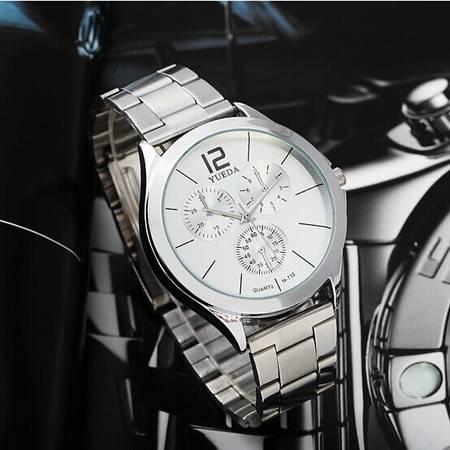 七夕礼物 包邮Yueda超大气 厚重大表 双重精细刻度男表钢带手表YD002