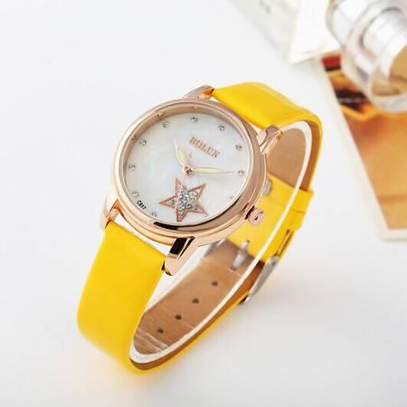 款复古手表女韩国时尚奢华大气水钻皮带表天然贝壳底面女士手表特价BL016