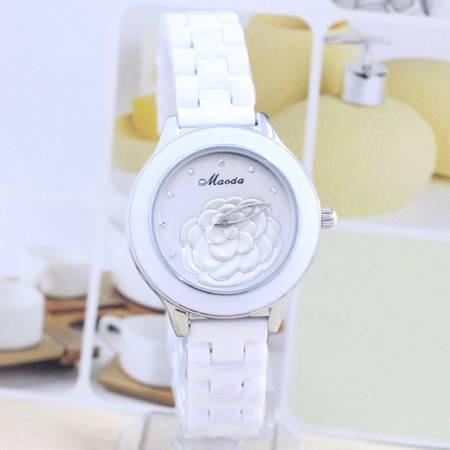 新款山茶花陶瓷手表 韩国潮流时尚 商务女士石英表 B5918