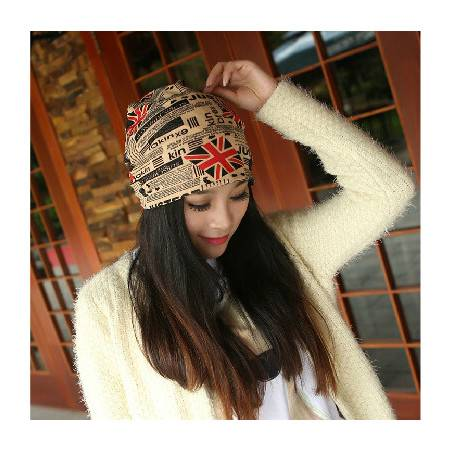 柏妃 韩国时尚女士明星同款套头帽包头帽子 B62