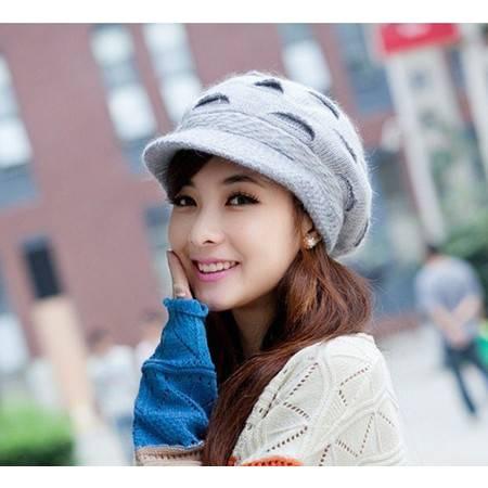 柏妃 韩版女士秋冬针织帽毛线帽子 B479
