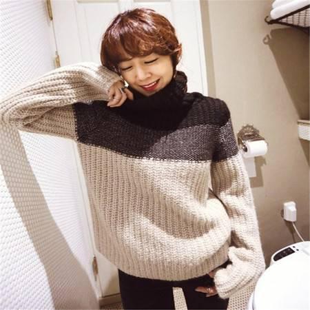 韩版秋冬新款宽松高领长袖套头毛衣外套女单穿打底针织衫 C601
