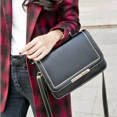 新款韩版潮酒红色小方包复古邮差包小包单肩斜挎包时尚女包包YG166