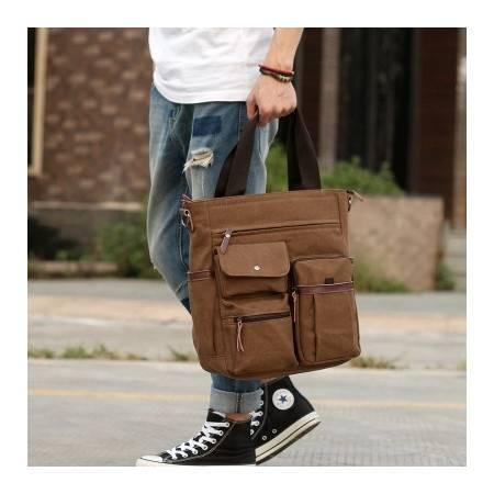 新款潮流 商务包休闲包单肩包斜挎包 电脑包男包帆布包 GC-502