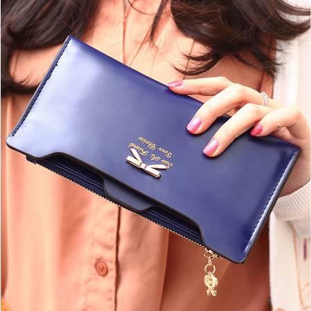 新款女包中长款女钱包韩版长款钱包蝴蝶结插卡女士钱款钱包潮YG174