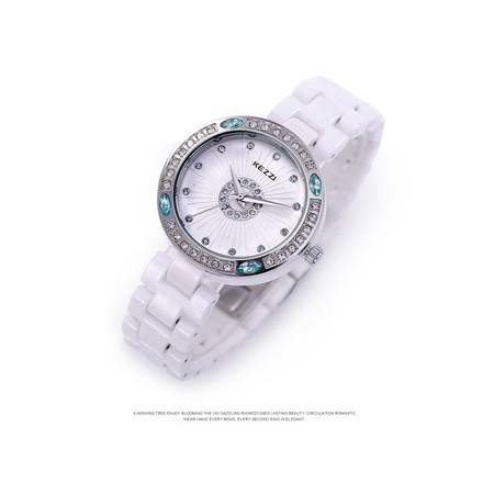韩版镶钻时尚防水陶瓷石英女士表 B6399