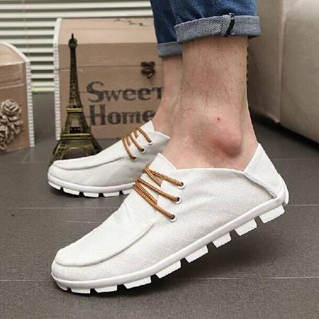 新款布鞋 亚麻布透气男士帆布鞋 韩版低帮潮流休闲鞋男鞋TSH206