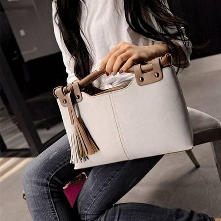 春款韩版时尚潮流女包OL撞色流苏小方包单肩包斜挎包手提包ody171