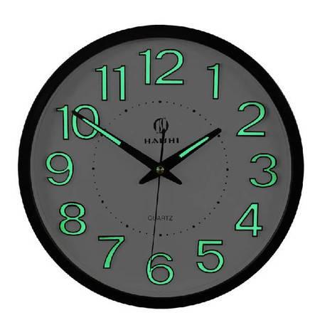 12英寸 14英寸客厅夜光挂钟卧室静音石英钟简约时钟创意扫秒挂表墙钟钟表QGN024