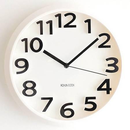 时尚糖果色圆形数字挂钟 客厅卧室静音时钟 钟表 QGN018