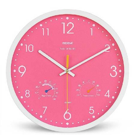 新款13寸温湿度个性客厅壁挂钟 创意时尚石英钟表 静音挂表壁钟QGN026