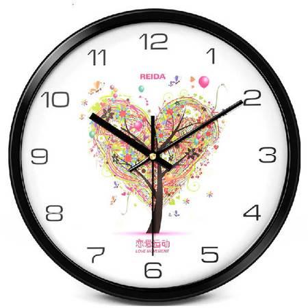 创意时尚时钟挂表超静音金属石英钟 12寸欧式客厅挂钟QGN027