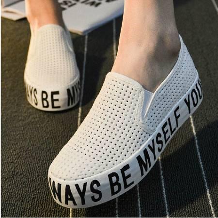 夏季韩版帆布鞋女低帮韩国风懒人女鞋平底一脚蹬镂空网鞋透气单鞋潮TSH244