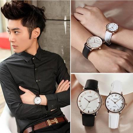 正品学生情侣手表一对韩版潮流时尚休闲皮带防水简约韩国男表女表QGN045