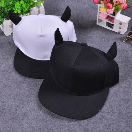 奔跑吧兄弟第二季跑男大黑牛李晨同款帽子男女牛角棒球帽潮嘻哈帽
