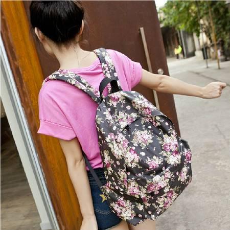 新款时尚女双肩包 休闲背包韩版学院风包包 优质帆布印花书包GC424