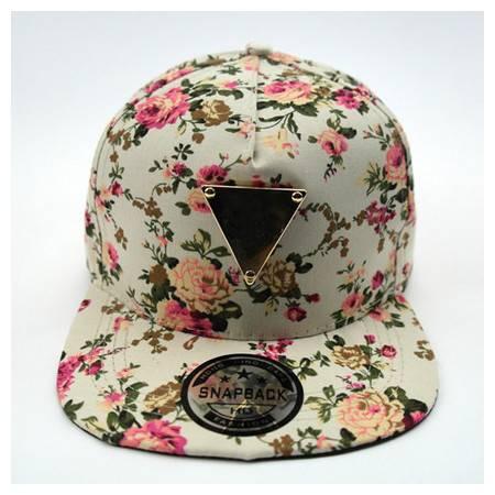 碎花女生平沿帽子 游防晒嘻哈帽 鸭舌帽 时尚棒球帽 潮B594