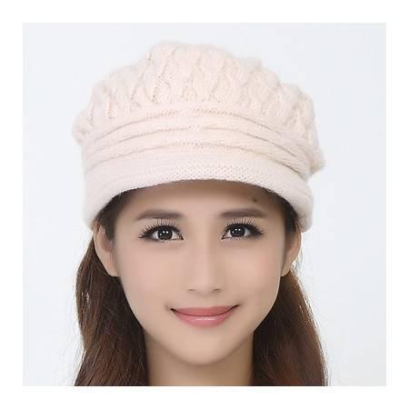 柏妃新款针织帽子 女 韩国 秋冬季韩版 户外潮流保暖护耳毛线帽B201