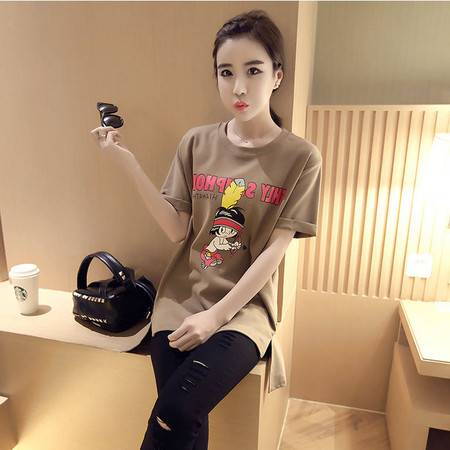 短袖t恤女夏韩版卡通女装显瘦上衣潮宽松纯棉打底衫短袖女款体恤ouf334