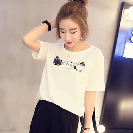 韩国宽松学生体恤打底衫女上装夏装新款潮 NC6683