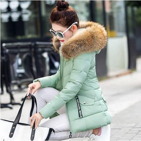 羽绒棉服棉衣女短款毛领加厚冬装外套韩版大码棉袄潮ouf408