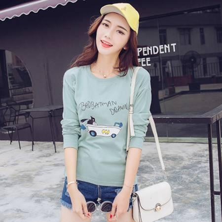 纳川 2016韩版女装秋冬装新款宽松圆领显瘦卡通印花T恤NC2004
