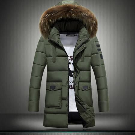 冬季男士中长款加厚保暖棉衣韩版修身男式外套青年休闲大码外套潮ouf431